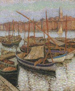 Henri Jean Guillaume Martin - Sailboats in the Port