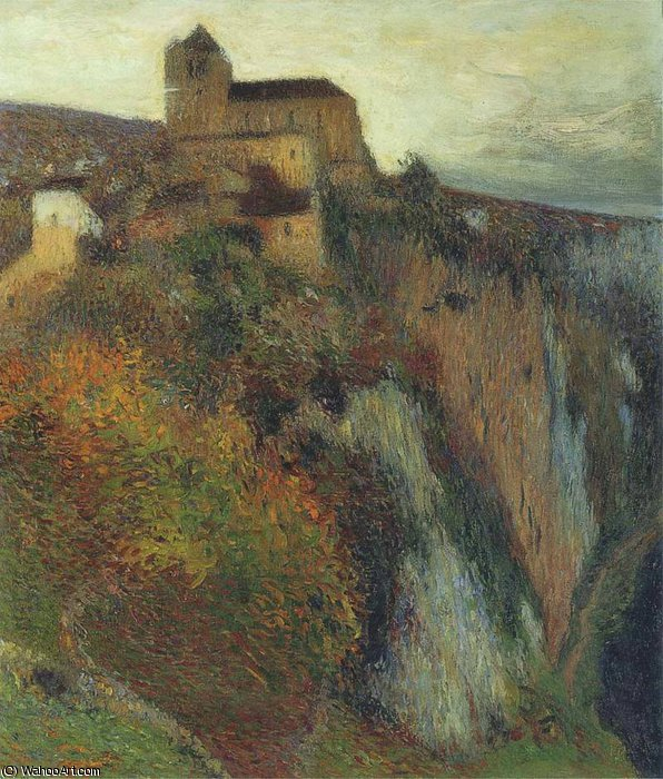 Saint Cirq Lapopie in Evening, 1897 by Henri Jean Guillaume Martin (1860-1860, France)