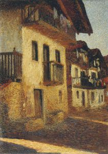 Henri Jean Guillaume Martin - Street in the Village