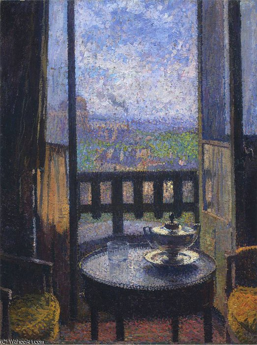 View from the Artists Studio by Henri Jean Guillaume Martin (1860-1860, France) | Museum Quality Copies Henri Jean Guillaume Martin | WahooArt.com