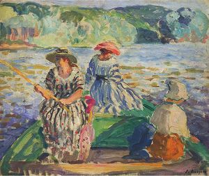 Henri Lebasque - a fishing expedition