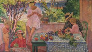 Henri Lebasque - Meal on the Terrace