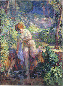 Henri Lebasque - Youn Girl in a Garden at St Tropez