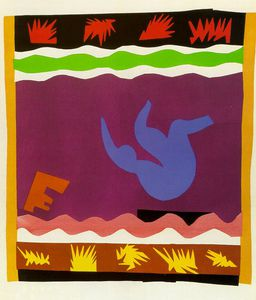 Henri Matisse - Jazz - The Toboggan - paper cut-outs -