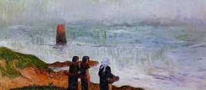 Henri Moret - Breton Women by the Sea