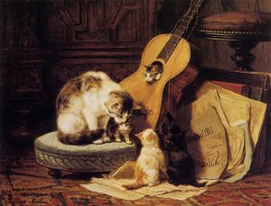 Henriette Ronner Knip - guitar playing sun