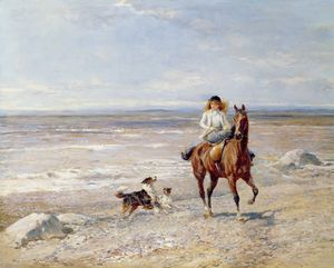 Heywood Hardy - Pony Ride on the Beach