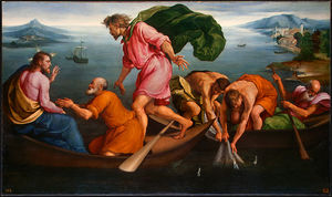 Jacopo Bassano (Jacopo Da Ponte) - The Miraculous Draught of Fishes