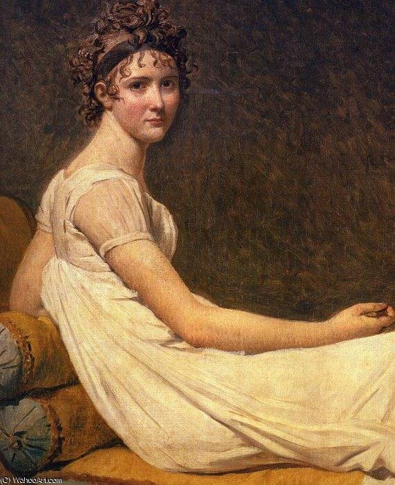 madame recamier by Jacques Louis David (1748-1800, France) | Art Reproduction | WahooArt.com