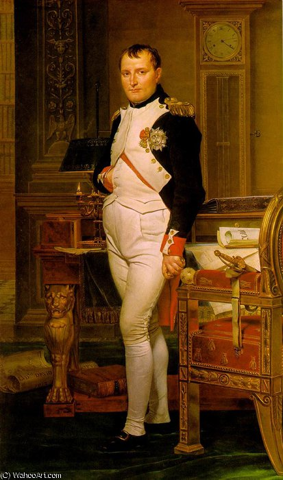 Napoleon in His Study, 1812 by Jacques Louis David (1748-1800, France) | Museum Quality Reproductions | WahooArt.com
