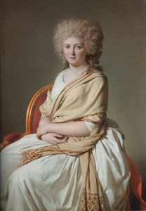 Order Oil Painting : Portrait of Anne Marie Louise Thelusson by Jacques Louis David (1748-1800, France) | WahooArt.com