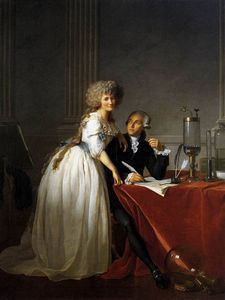 Jacques Louis David - Portrait of Antoine Laurent and Marie Anne Lavoisier