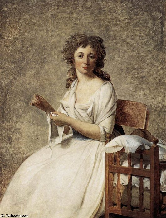 Portrait of Madame Adelaide Pastoret by Jacques Louis David (1748-1800, France) | Famous Paintings Reproductions | WahooArt.com