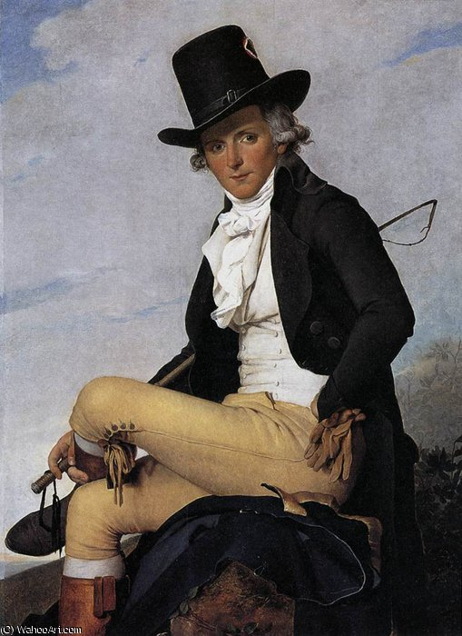Portrait of Pierre Seriziat by Jacques Louis David (1748-1800, France)