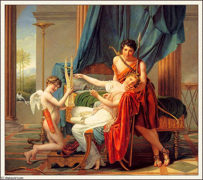 sappho and phaon by Jacques Louis David (1748-1800, France)