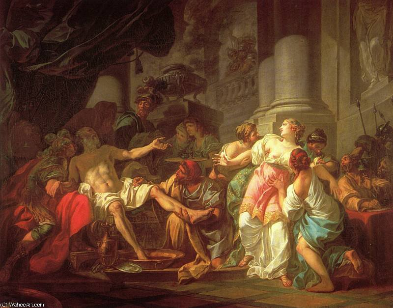 The Death of Seneca by Jacques Louis David (1748-1800, France) | Museum Quality Reproductions | WahooArt.com