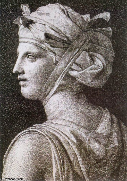 Woman in a Turban by Jacques Louis David (1748-1800, France) | Art Reproduction | WahooArt.com