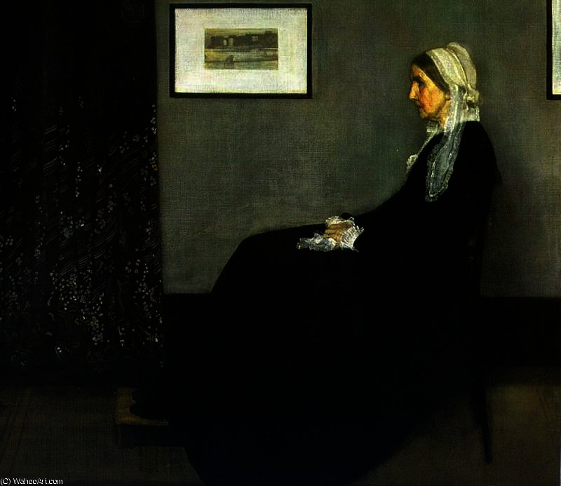 Arrangement in Grey and Black by James Abbott Mcneill Whistler (1834-1903, United States)
