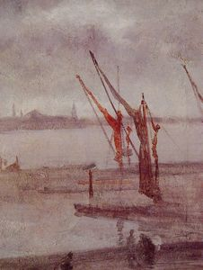 James Abbott Mcneill Whistler - Chelsea Wharf Grey and Silver