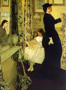 James Abbott Mcneill Whistler - Harmony in Green and Rose The Music Room