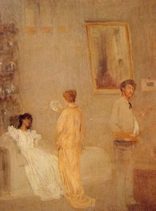 James Abbott Mcneill Whistler - in his Studio