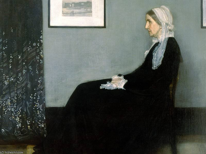 mother by James Abbott Mcneill Whistler (1834-1903, United States)
