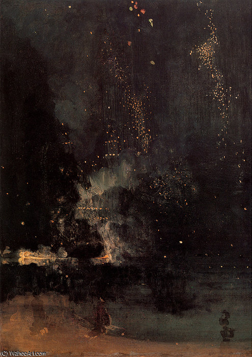 Nocturne in Black and Gold The Falling Rocket by James Abbott Mcneill Whistler (1834-1903, United States)