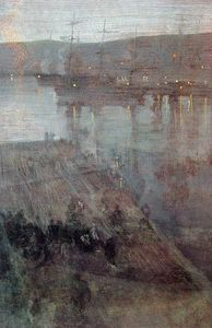 James Abbott Mcneill Whistler - Nocturne in Blue and Gold Valparaiso Bay