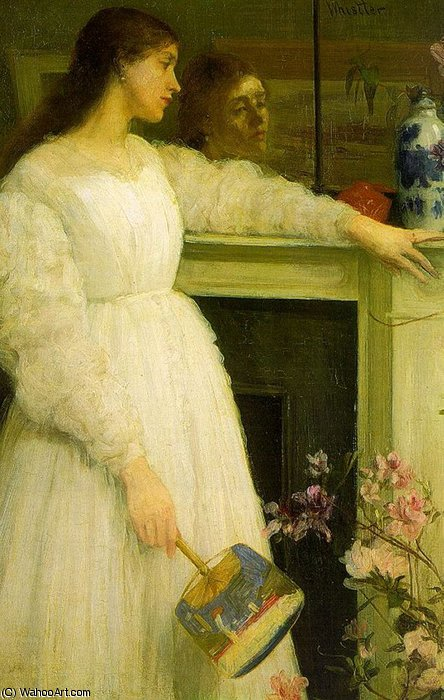 Symphony in White no 2 The Little White Girl by James Abbott Mcneill Whistler (1834-1903, United States)