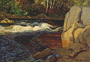 James Edward Hervey Macdonald - a rapid in the north