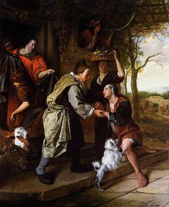 Jan Steen - Return of the prodigal son Sun