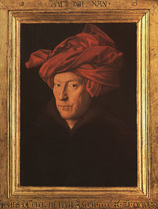 Jan Van Eyck - A Man in a Turban (possibly a self-portrait) -