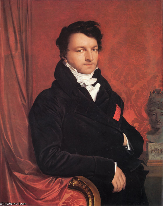 jacques marquet by Jean Auguste Dominique Ingres (1780-1867, France)