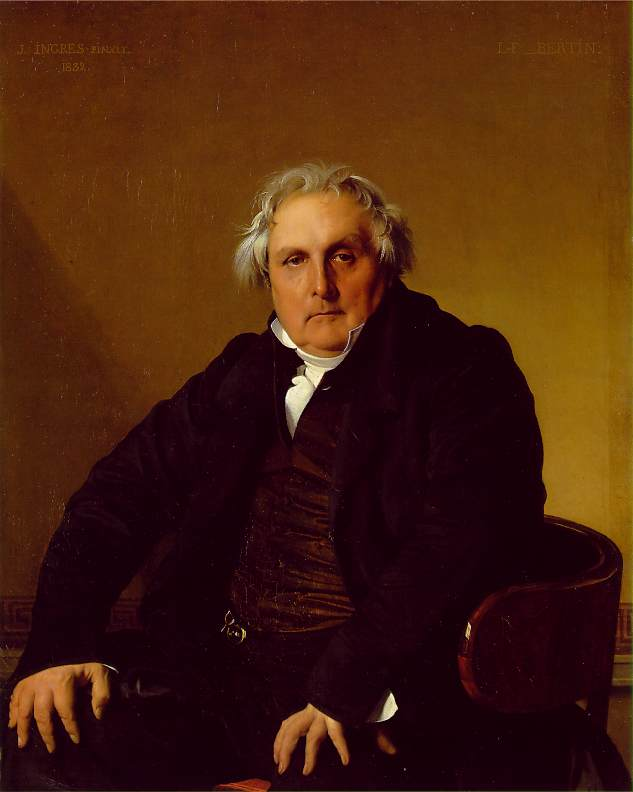 louis francois bertin, 1833 by Jean Auguste Dominique Ingres (1780-1867, France)