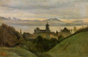 Jean Baptiste Camille Corot - Between Lake Geneva and the Alps