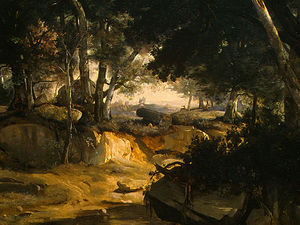 Jean Baptiste Camille Corot - Forest of Fontainebleau (detail - )