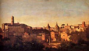 Jean Baptiste Camille Corot - forum viewed from the farnese gardens