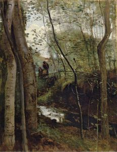Jean Baptiste Camille Corot - Stream in the Woods aka Un ruisseau sous bois