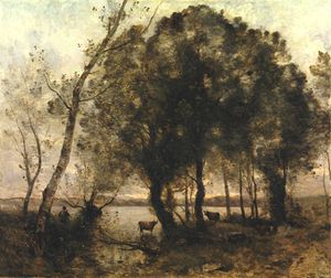 Jean Baptiste Camille Corot - the lake - -