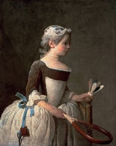Jean-Baptiste Simeon Chardin - Girl with Racket and Shuttlecock