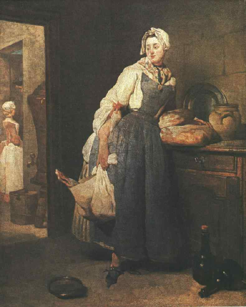 Return from the Market by Jean-Baptiste Simeon Chardin (1699-1779, France) | Museum Art Reproductions Jean-Baptiste Simeon Chardin | WahooArt.com