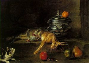 Jean-Baptiste Simeon Chardin - the silver tureen - oil on canvas -