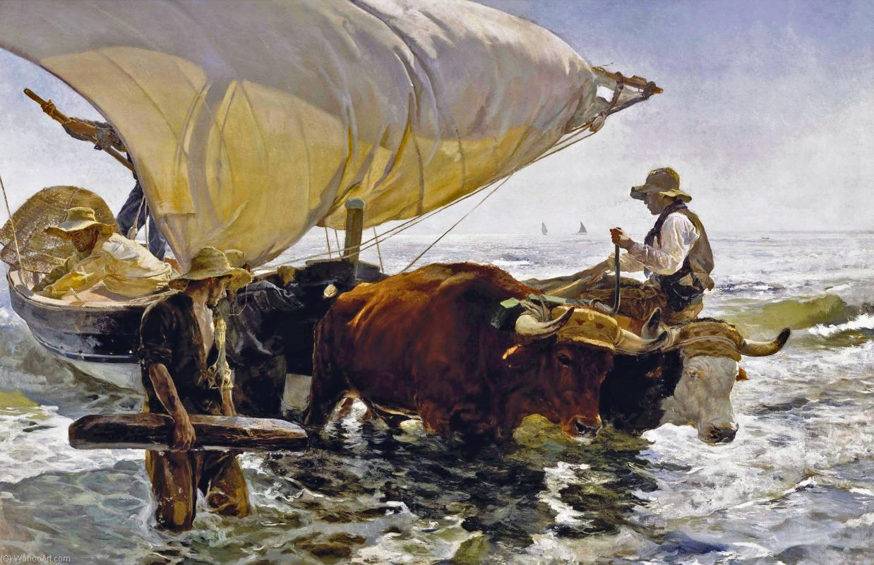 La vuelta de la pesca, Oil On Canvas by Joaquin Sorolla Y Bastida (1863-1923, Spain)