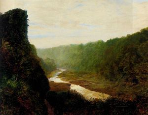 John Atkinson Grimshaw - Landscape with a winding river