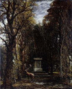 John Constable - Cenotaph to the Memory of Sir Joshua Reynolds, erected in the grounds of Coleorton Hall, Leicestershire by the late Sir George Beaumont