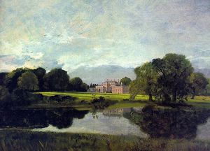 John Constable - malvern hall - oil on canvas -