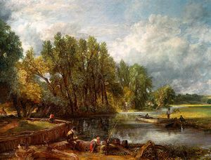John Constable - stratford mill - oil on canvas -