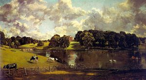John Constable - wivenhoe park, essex - oil on canvas -