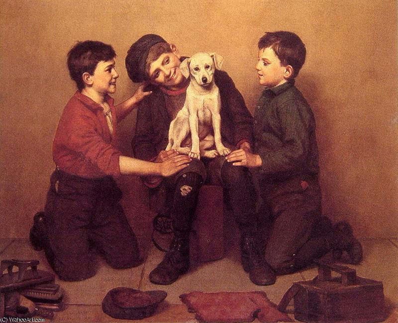 the foundling by John George Brown (1831-1913, United Kingdom) | Reproductions John George Brown | WahooArt.com