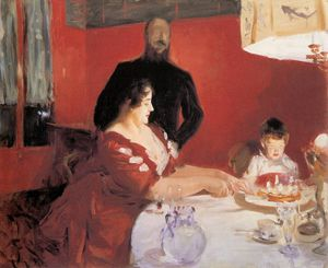 John Singer Sargent - fete familiale the birthday party